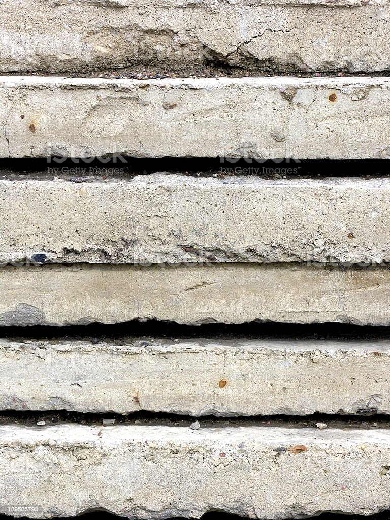 Concrete plates royalty-free stock photo