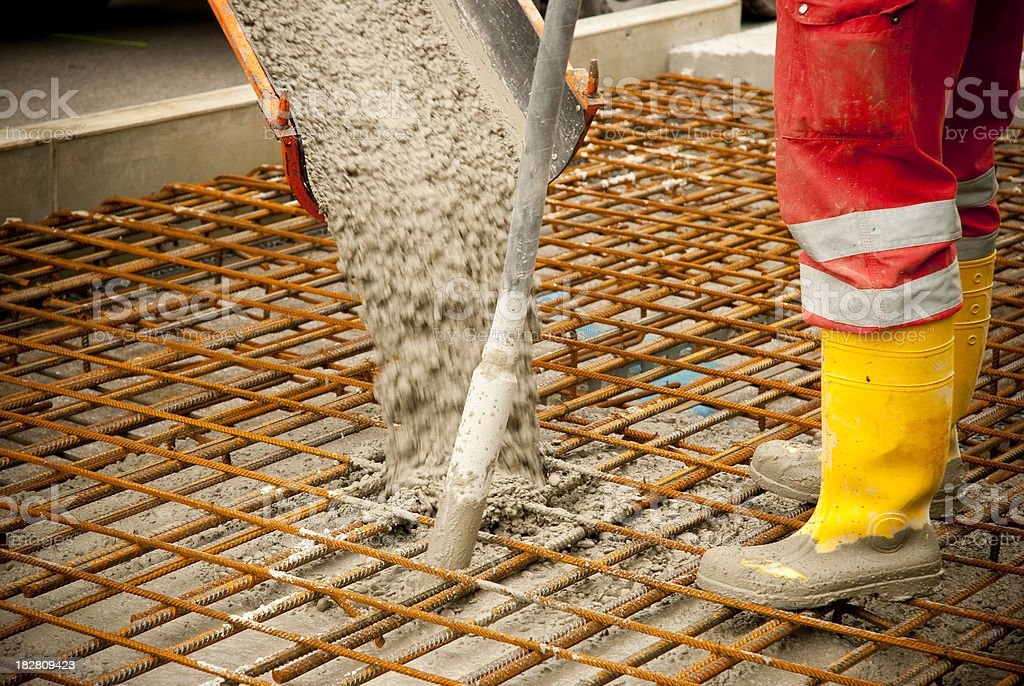concrete pouring royalty-free stock photo