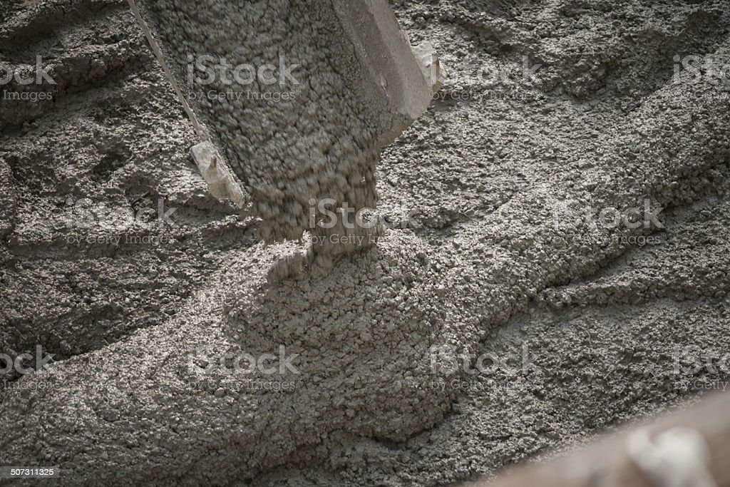 Concrete pouring stock photo