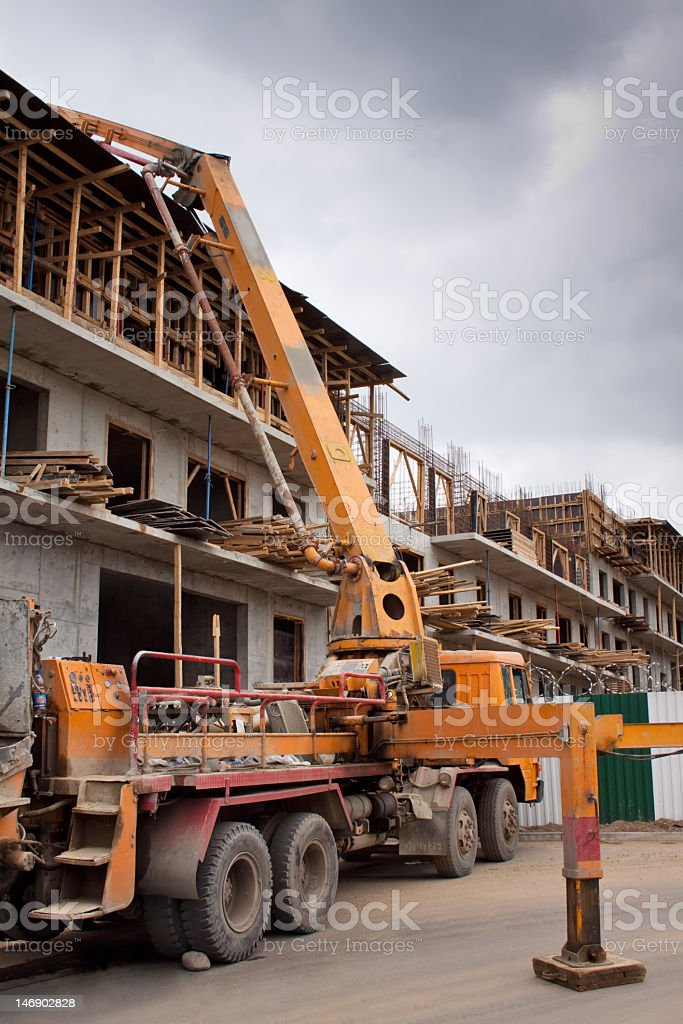 Concrete Pump royalty-free stock photo