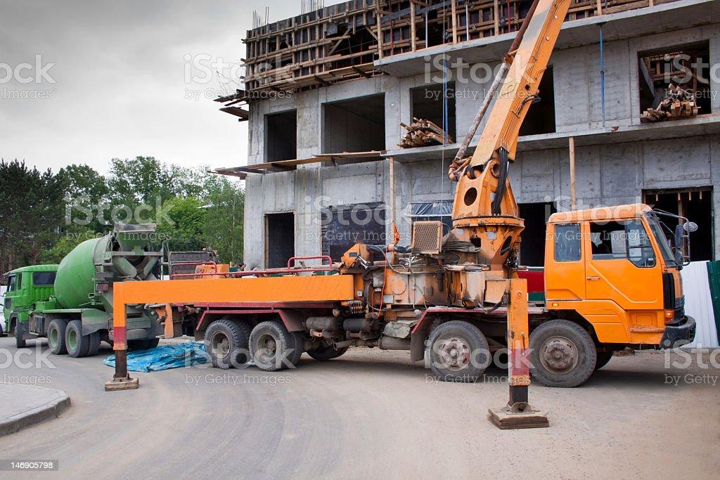 Concrete Pumper royalty-free stock photo