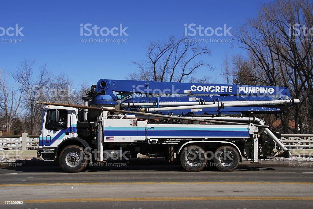 Concrete Pumper stock photo