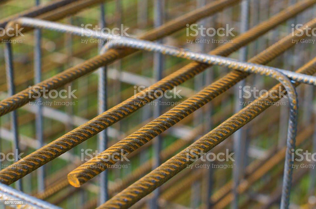 concrete rebar stock photo