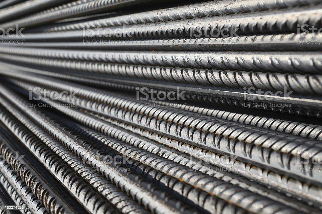 Concrete reinforcement steel stock photo