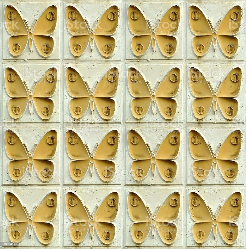 concrete relief blocks with butterflies, seamless stock photo