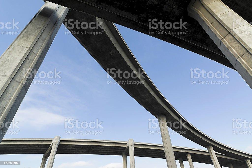 Concrete roads royalty-free stock photo