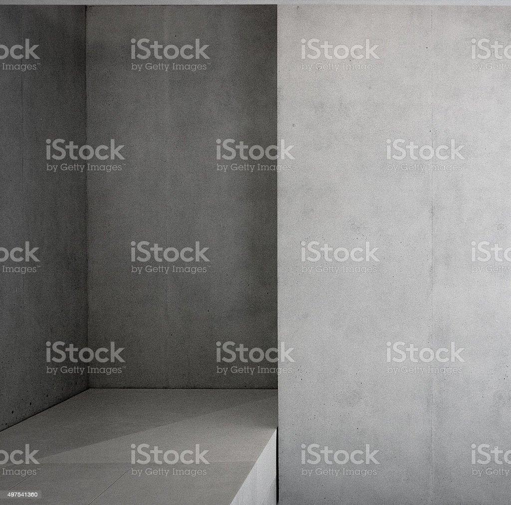 concrete room interior stock photo