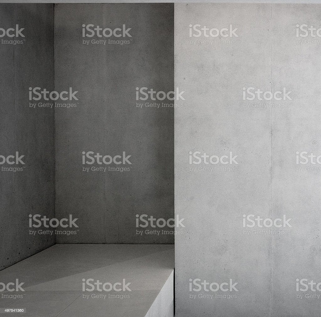 concrete room interior stock photo