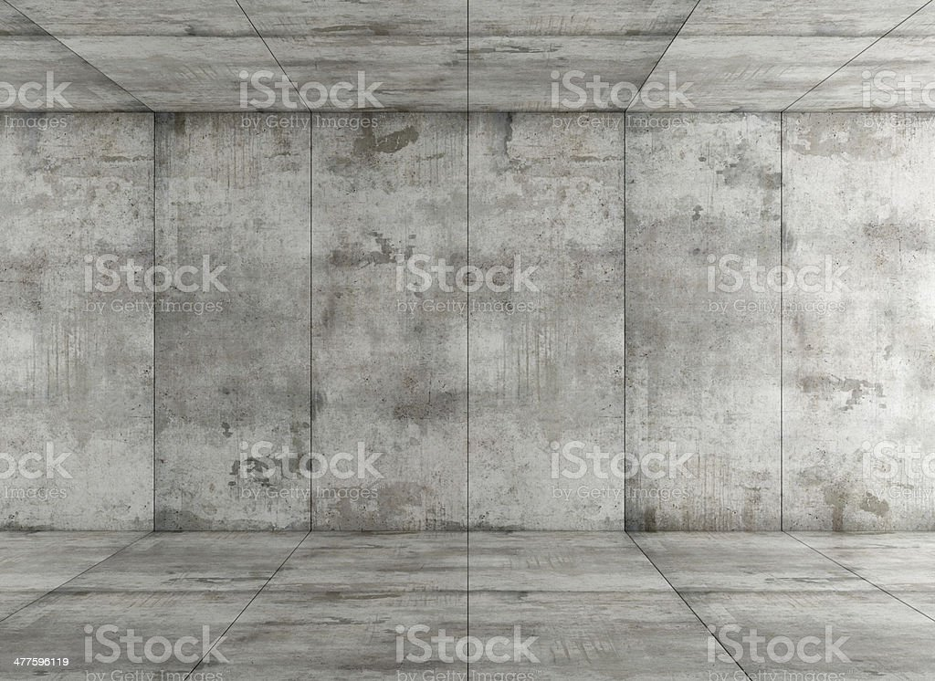 concrete room stock photo