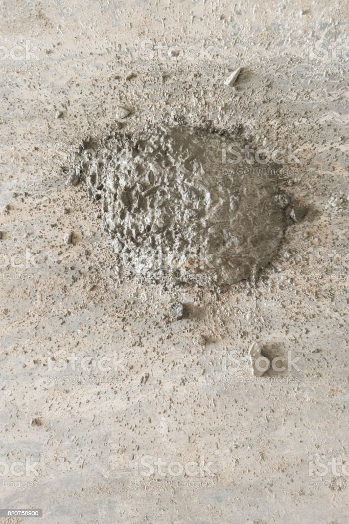 Concrete Screed on the floor. stock photo