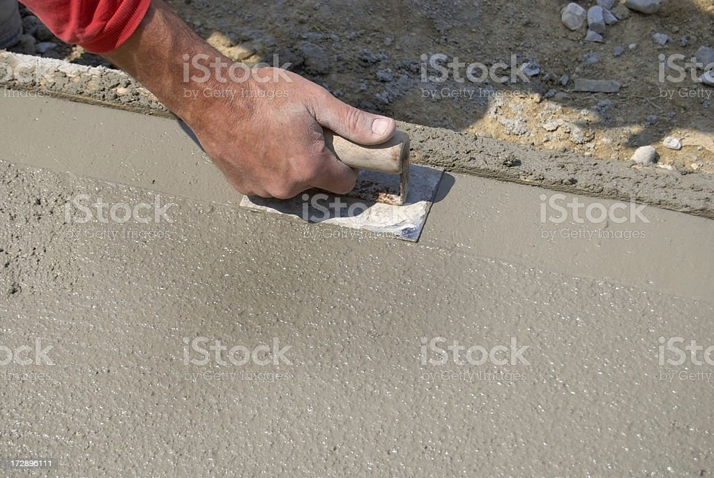 Concrete Sidewalk Construction stock photo