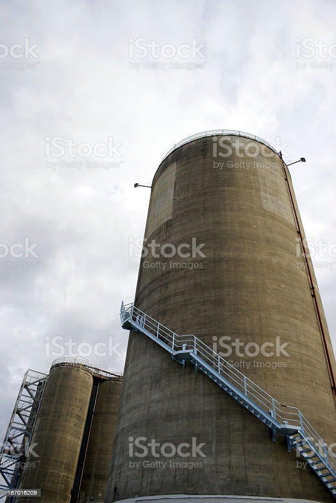 Concrete Silos royalty-free stock photo