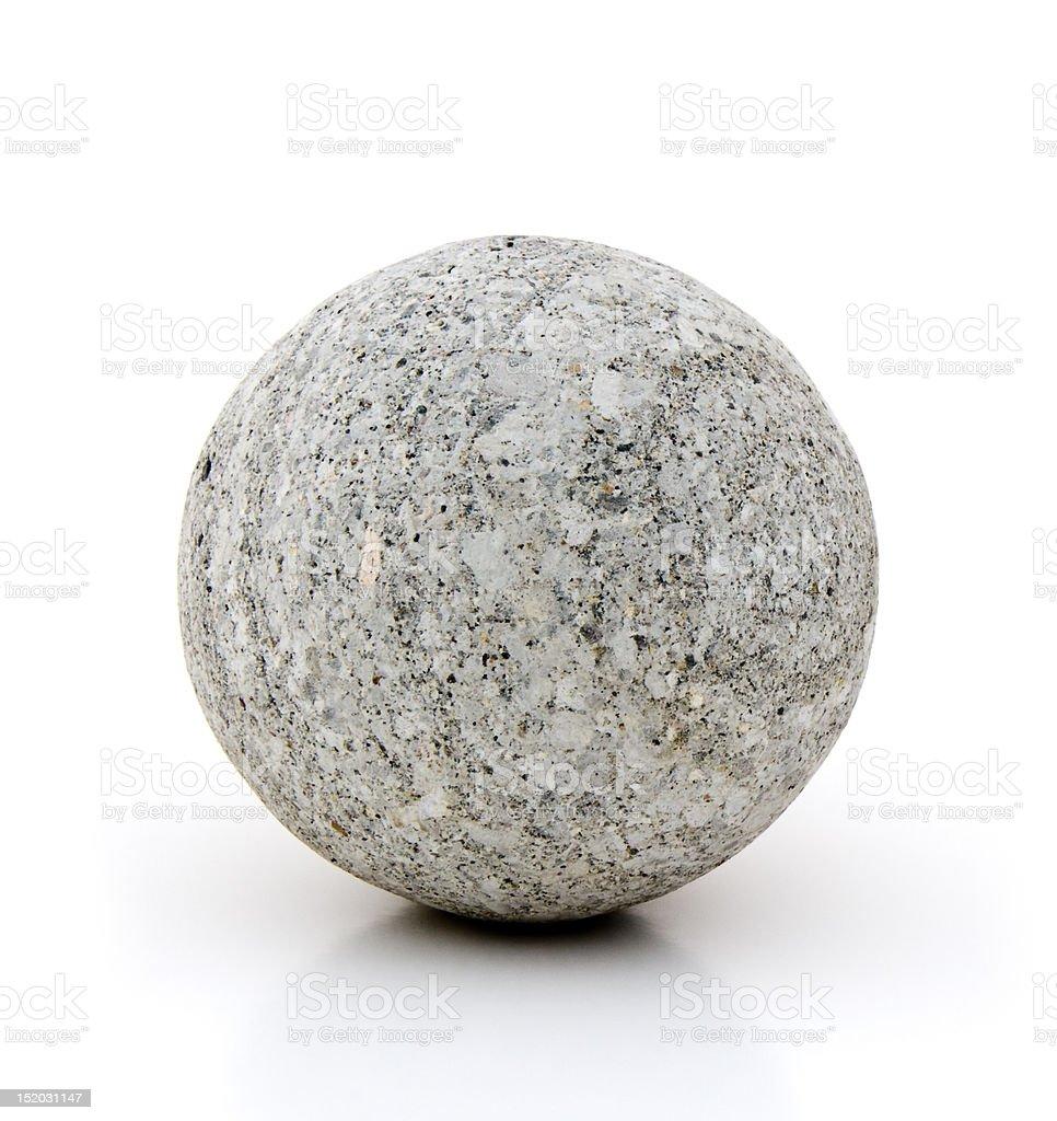 Concrete sphere royalty-free stock photo
