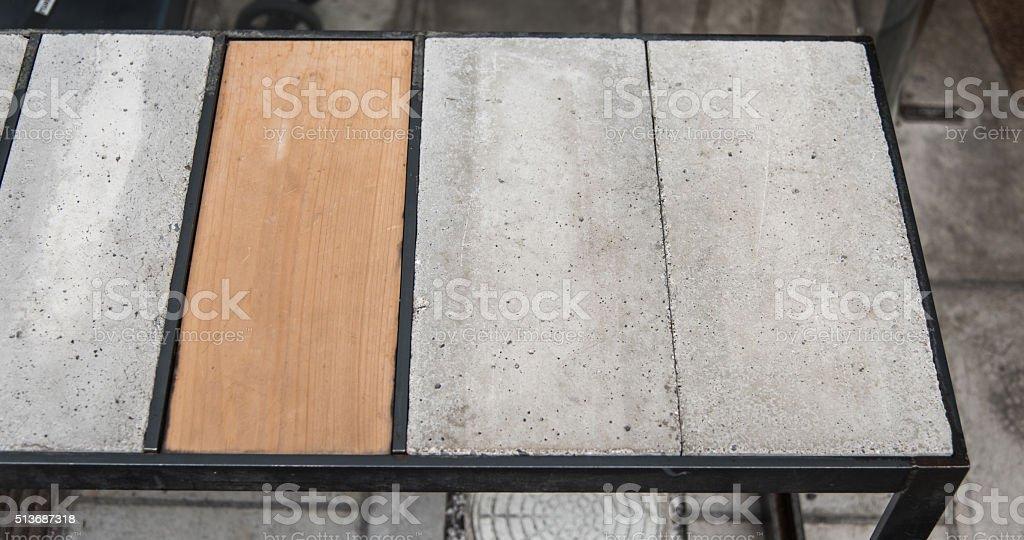 concrete square block shape stock photo