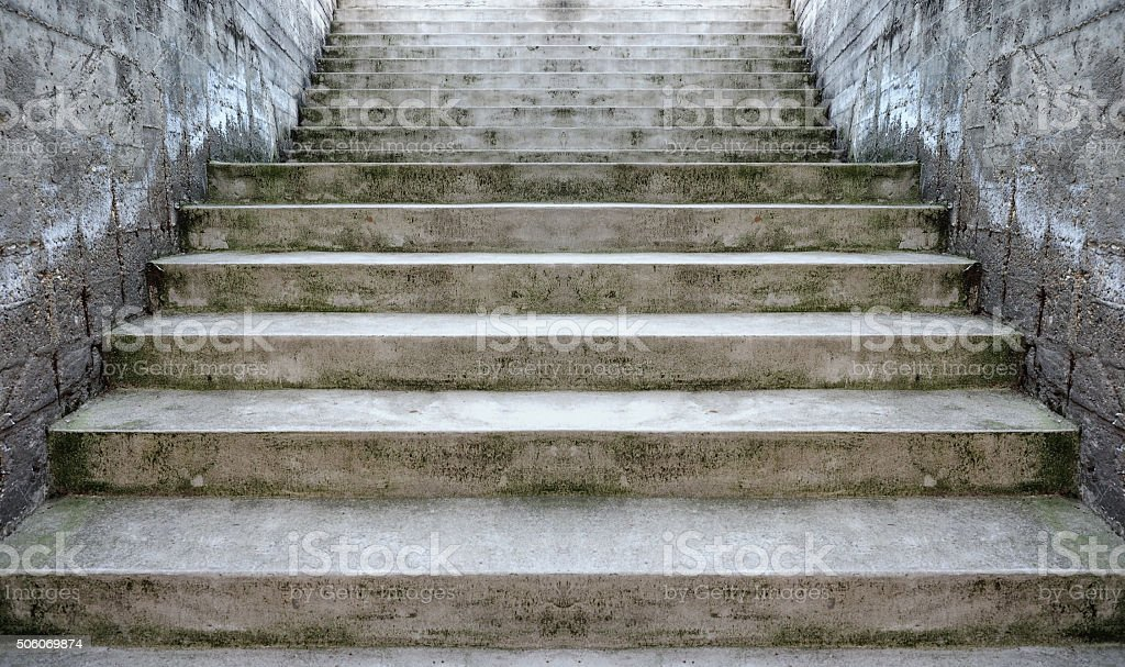 Concrete stairway perspective stock photo