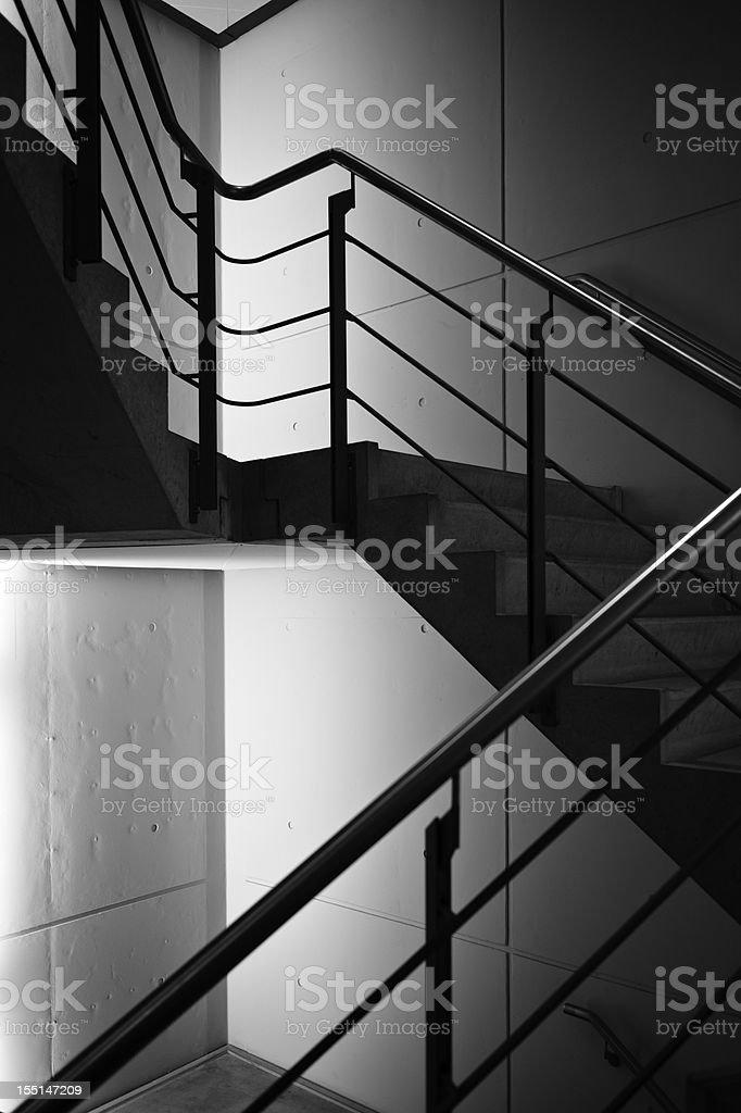 Concrete Stairway stock photo