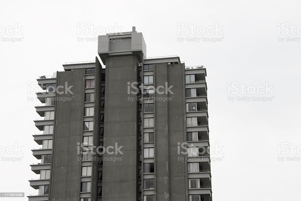 Concrete Tower Block royalty-free stock photo