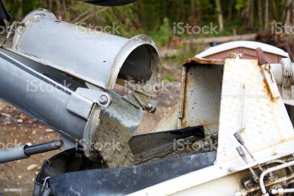 Concrete truck stock photo