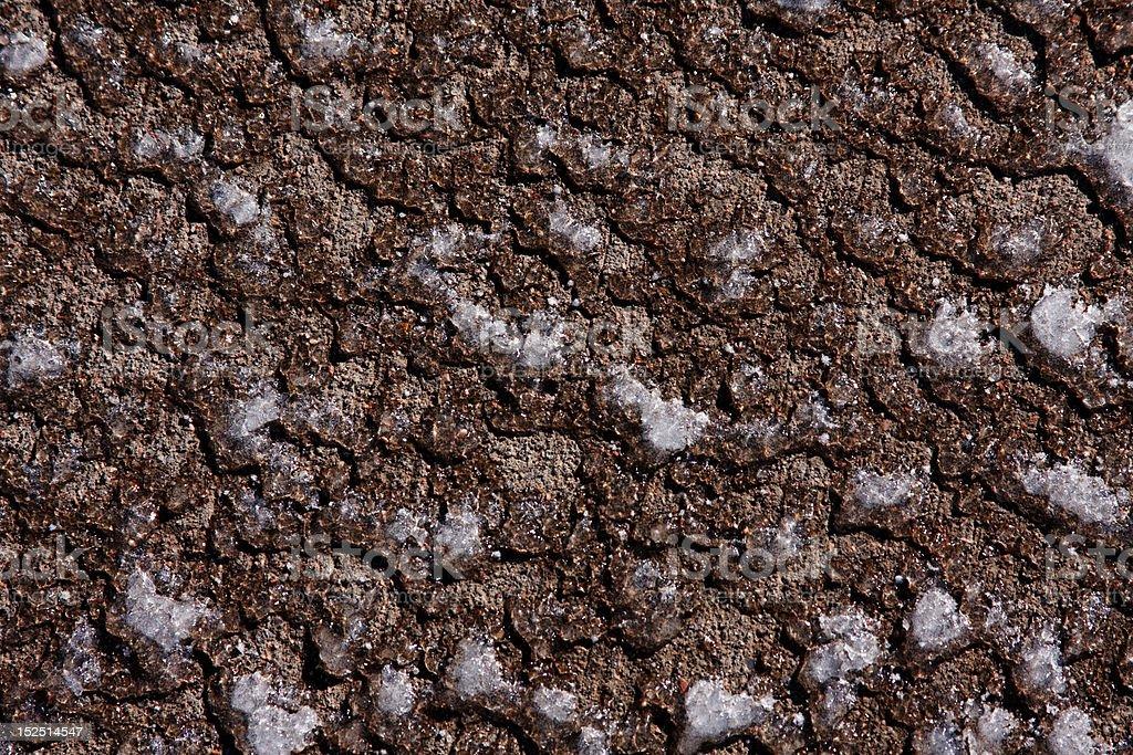 Concrete under Snow and Ice stock photo