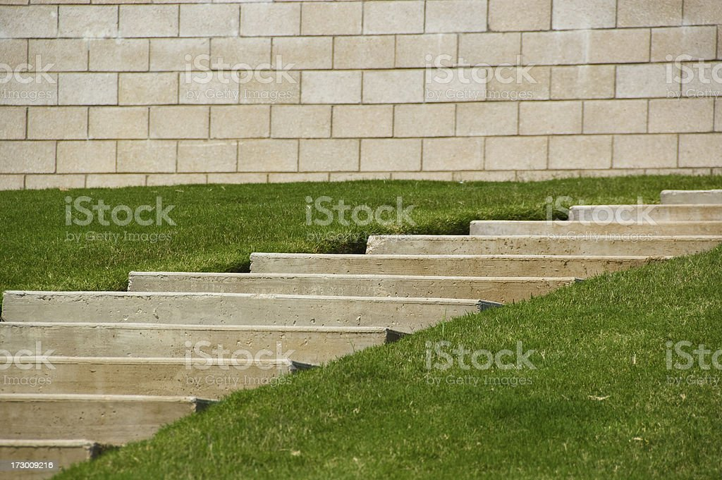Concrete Walk and Block royalty-free stock photo