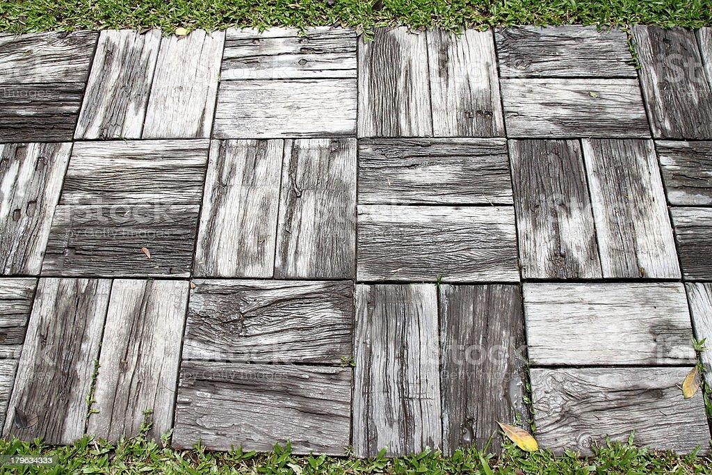 Betonowy Ścieżka spacerowa w ogrodzie zbiór zdjęć royalty-free