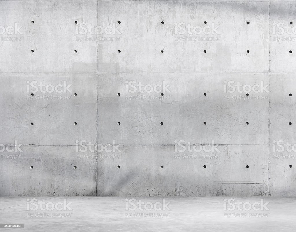Concrete Wall and Cement Floor for Copy Space stock photo