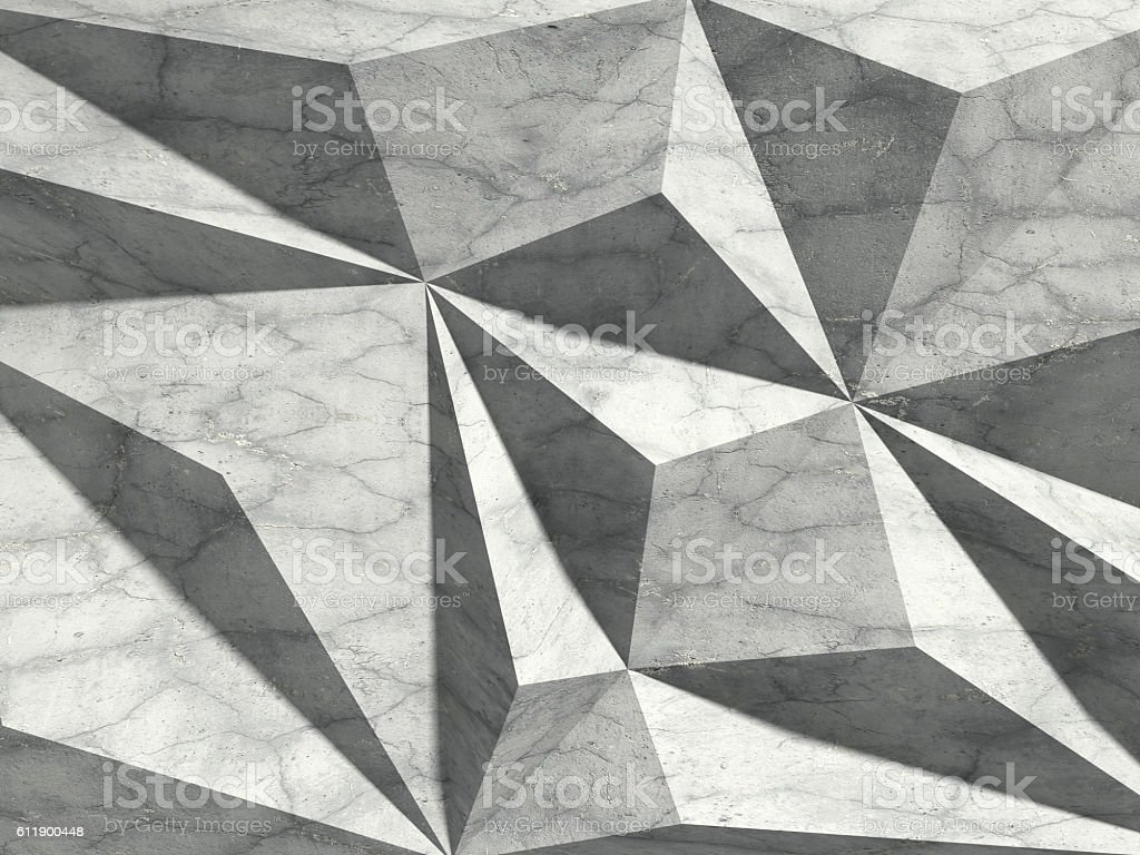 Concrete wall chaotic architecture background stock photo