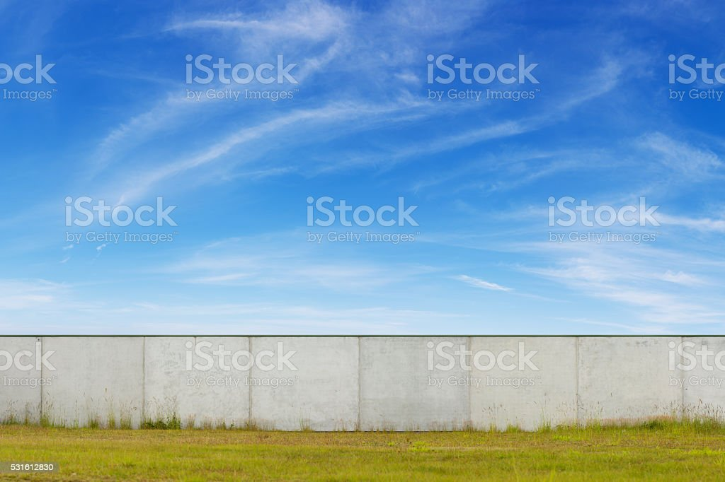 Concrete Wall or Factory Building stock photo