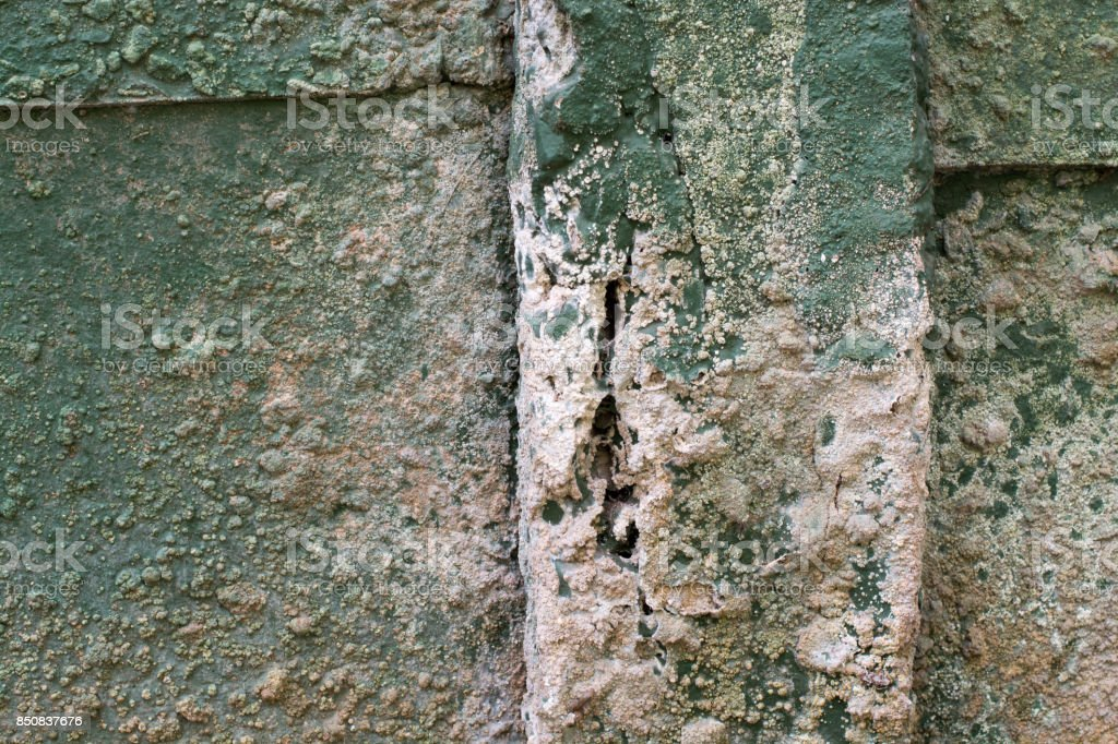 Concrete Wall Pillar Decay stock photo