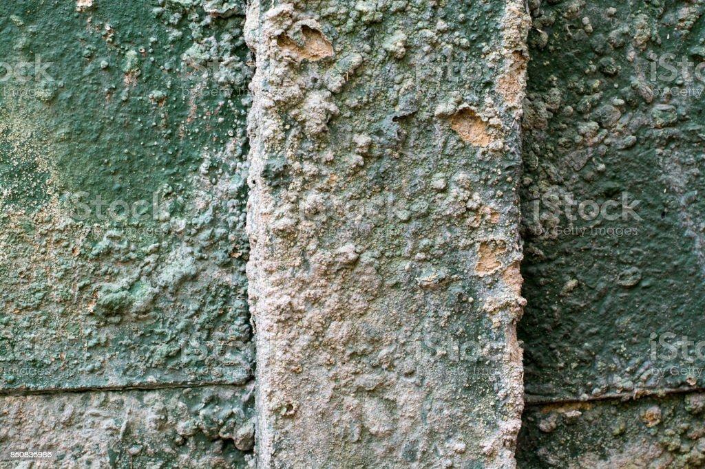 Concrete wall Pillar decaying stock photo