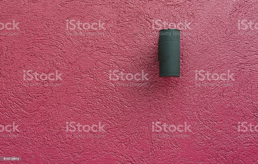 Concrete wall red with black lights. stock photo