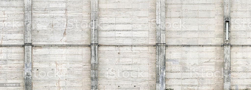 concrete wall texture with pillars royalty-free stock photo