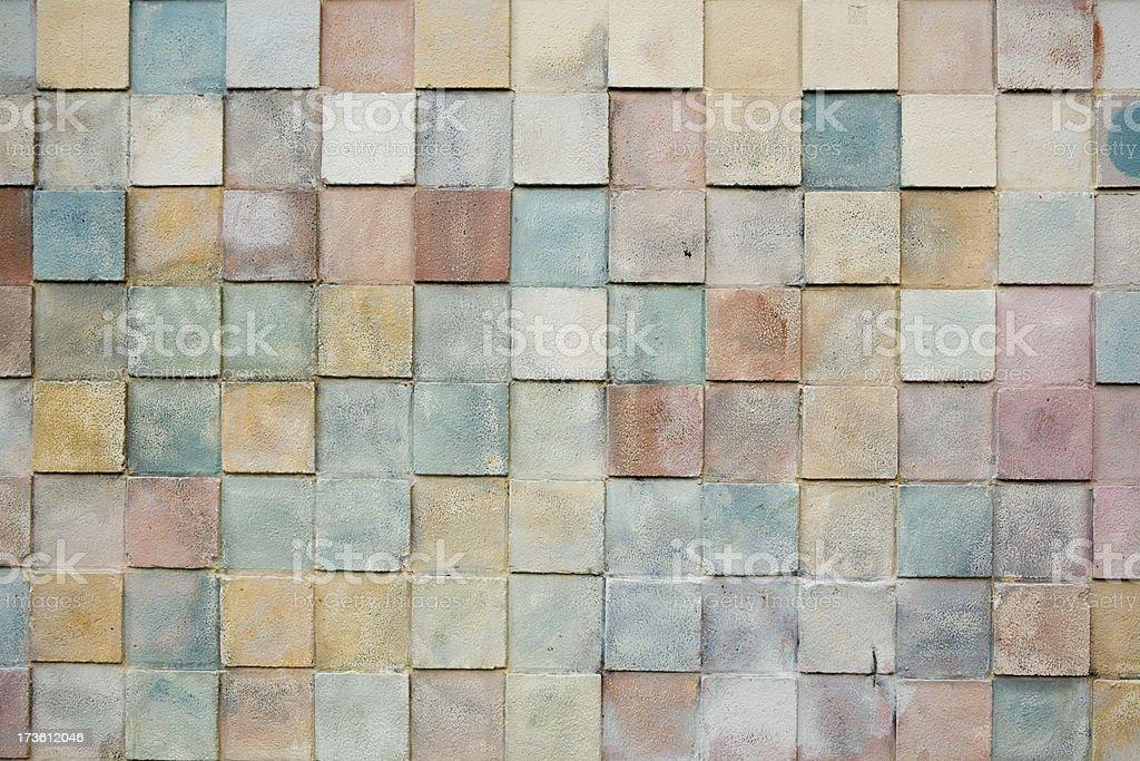 Concrete wall tiled siding royalty-free stock photo