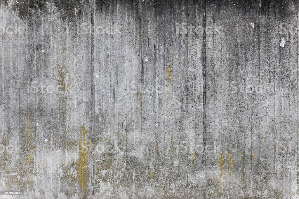 concrete wall #7, weathered, mossy stock photo