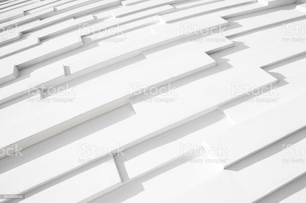 Concrete Wall White Building Facade Pattern stock photo