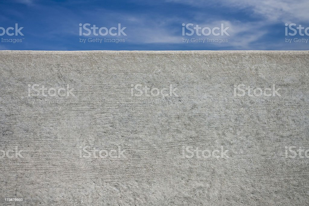 Concrete wall with a blue sky royalty-free stock photo