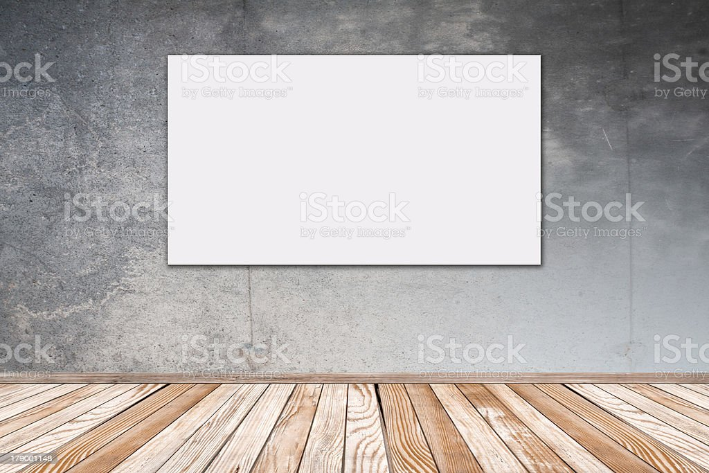 Concrete Wall with Picture 16:9 royalty-free stock photo