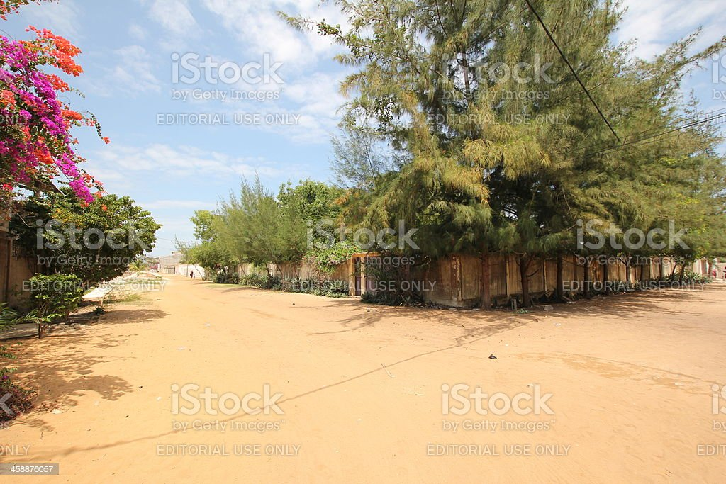 Concrete Walls in a Village, Togo, West Africa stock photo