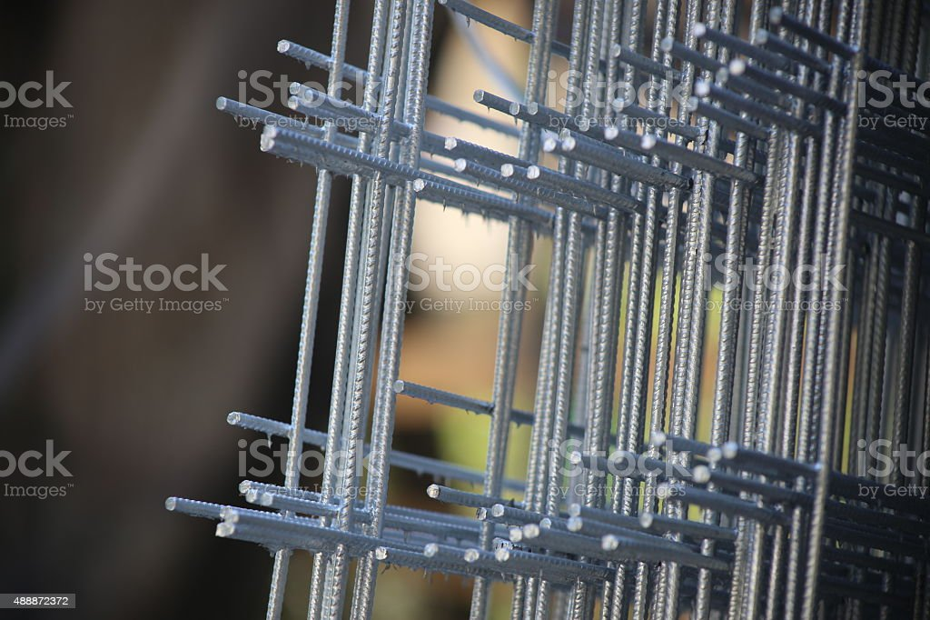 Concrete Wire Mesh stock photo