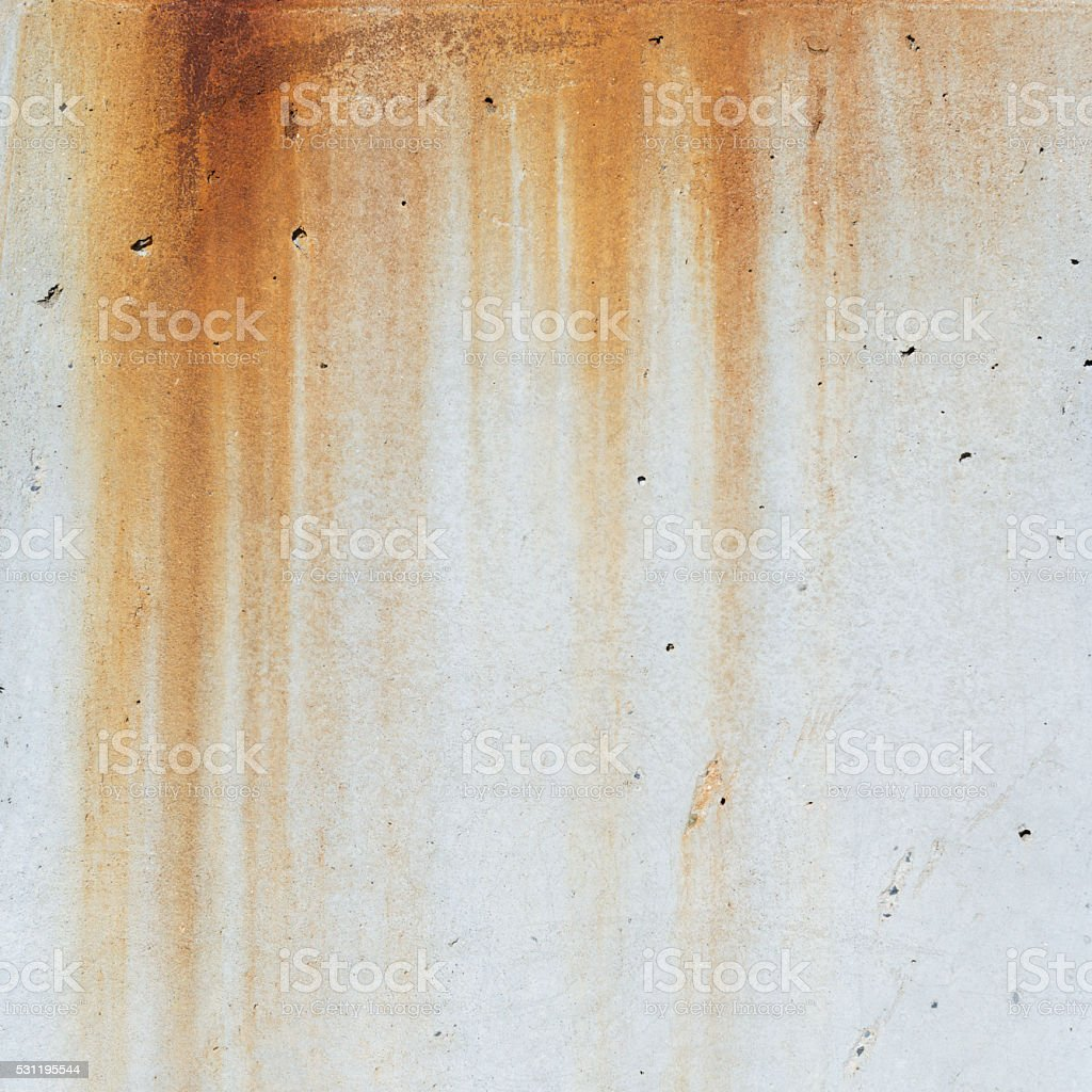 Concrete With Rust Stains stock photo