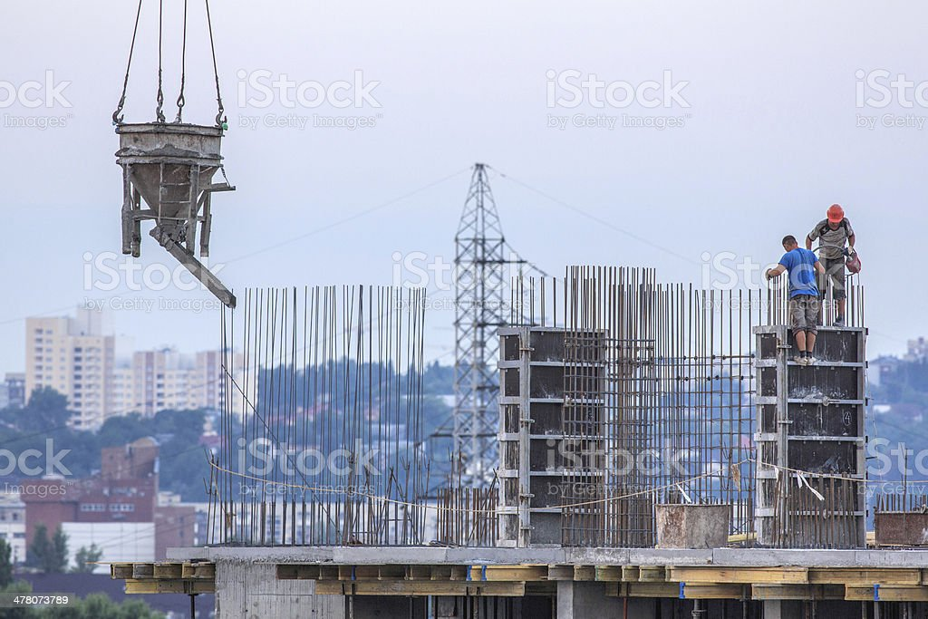 concrete worker royalty-free stock photo