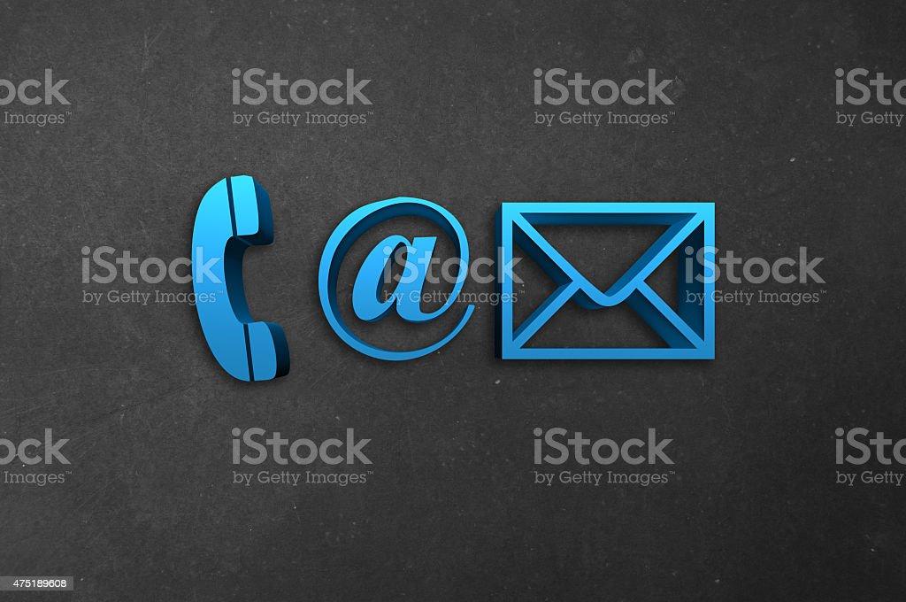 Conctact Info Symbols stock photo