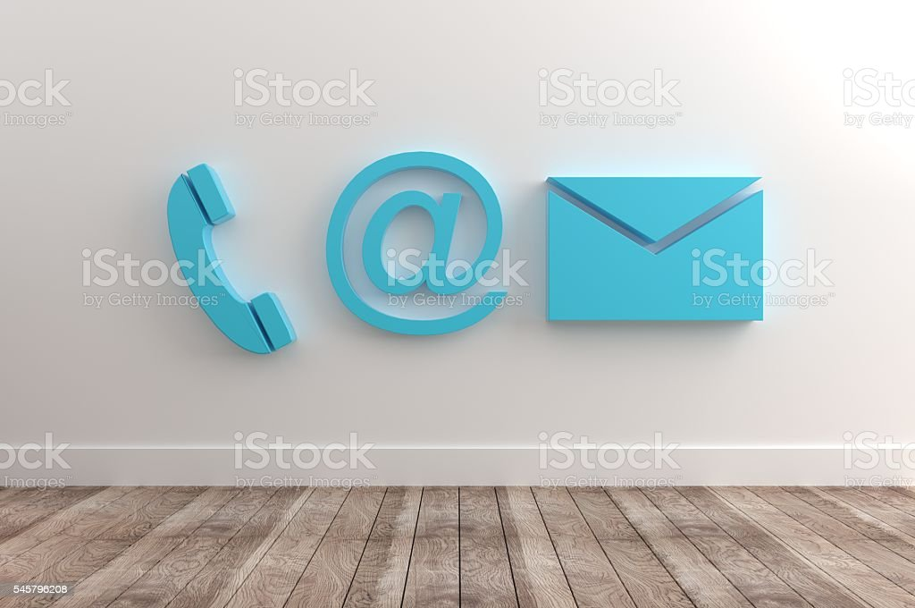 Conctact Info Symbols stock photo