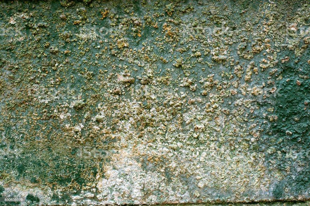 Conctete Wall slab corroding stock photo