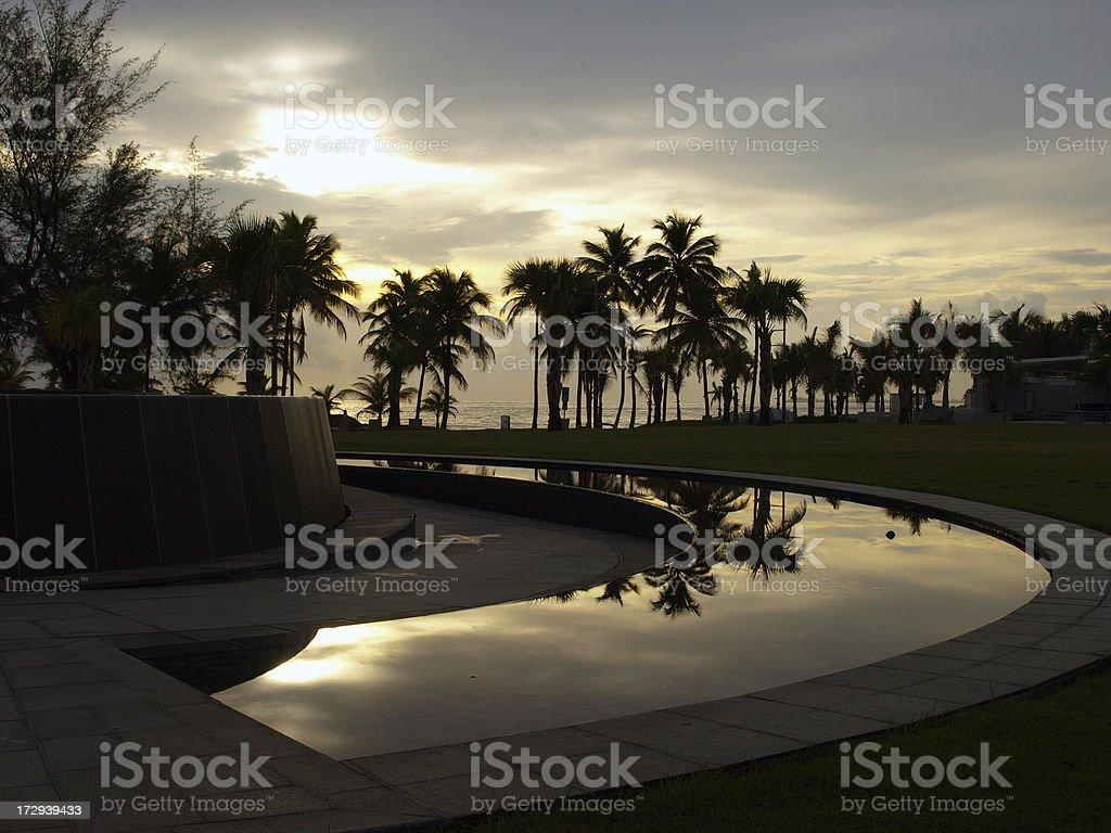 Condado Beach at dawn stock photo