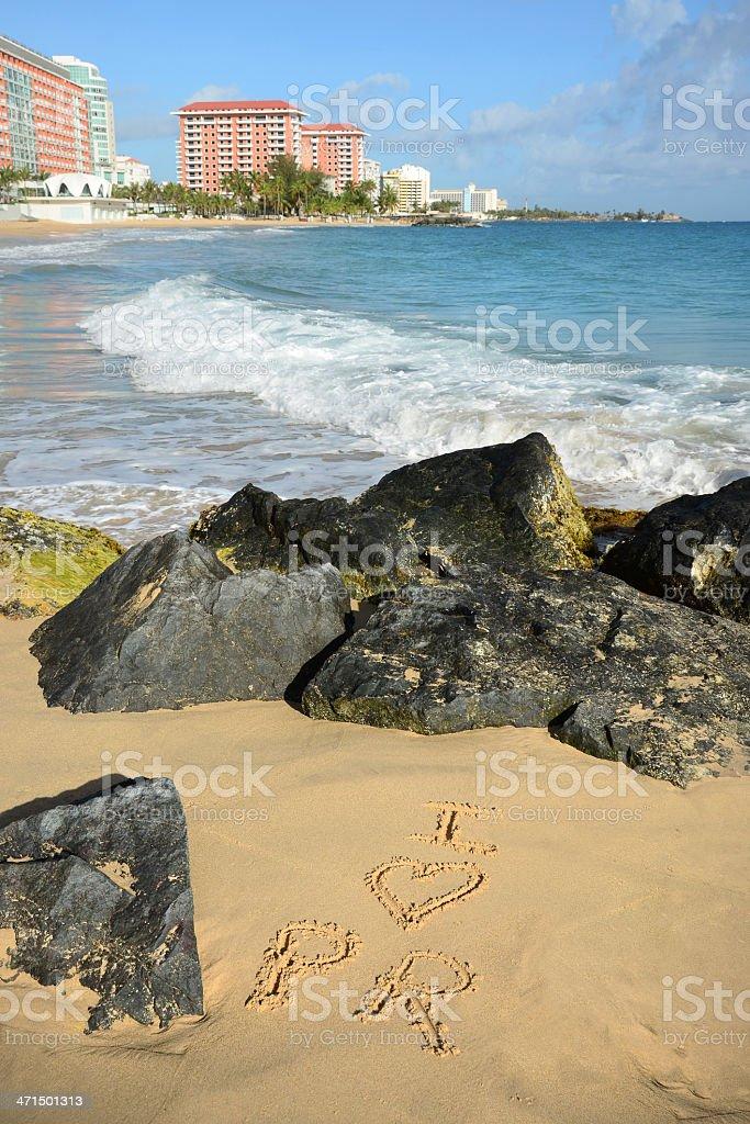 Condado Beach in San Juan stock photo