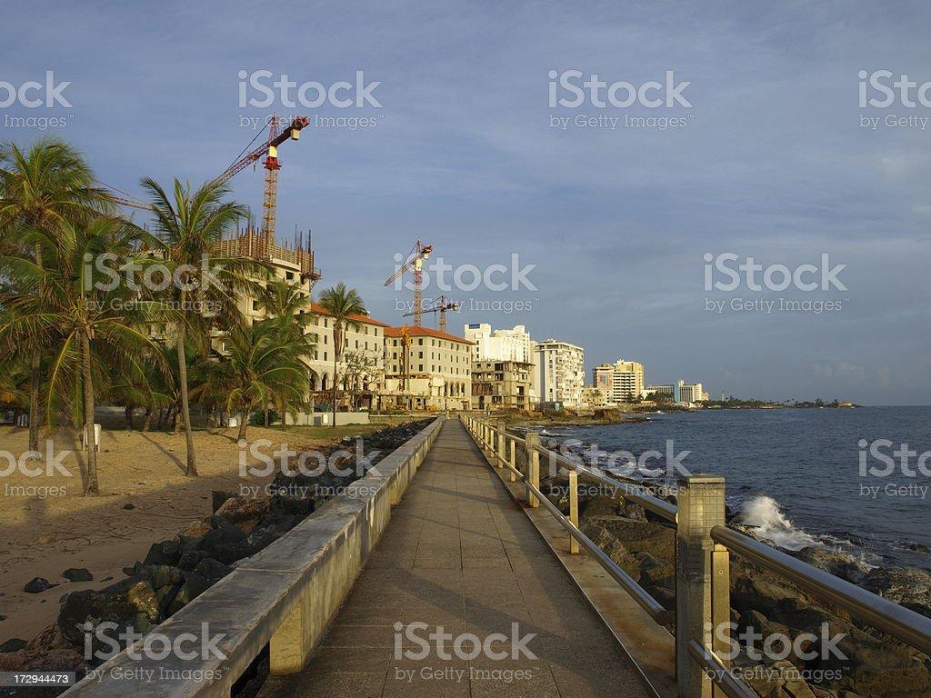 Condado beachfront stock photo