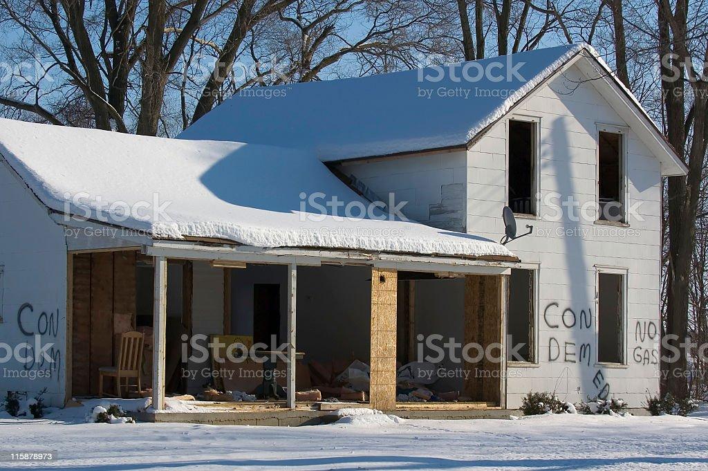 Condemed Farmhouse stock photo