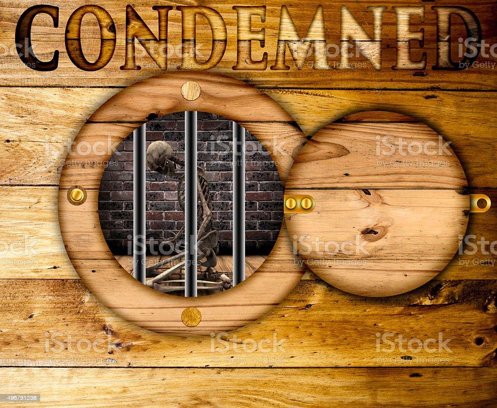 Condemnation. stock photo