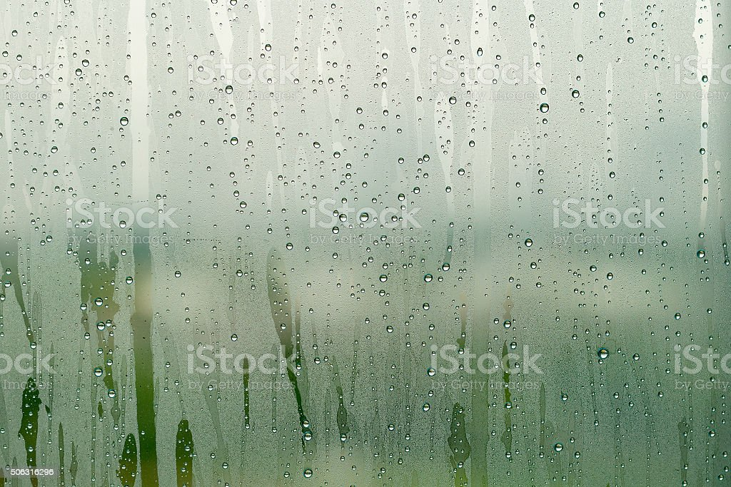 Condensation mirror stock photo